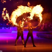 Art on Ice 2014 fire-breathing-pyro-fx-at-premiere-launch-event-art-on-ice-2014-arena-production