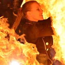 Art on Ice 2014 girl-on-fire-circus-artist-stunt-fire-performer-steffi-from-spark-fire-dance-in-switzerland