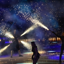 Art on Ice 2014 pyrotechnic-effects-dancers-in-zurich-spark-fire-dance