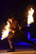 Art on Ice 2014 fire-staff-performer-former-cirque-du-soleil-artist-dan-miethke