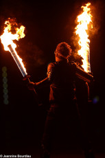 Art on Ice 2014 fire-swords-ninja-character-pyrotechnics-effects-by-spark-fire-dance-uk