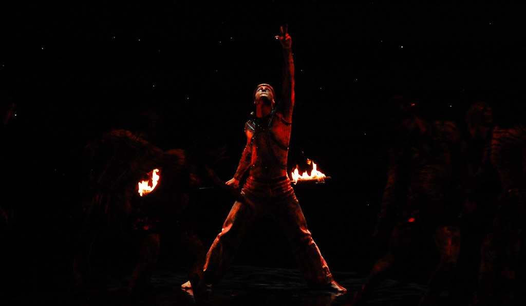 Dan Miethke Cirque du Soleil fire shows at Zaia