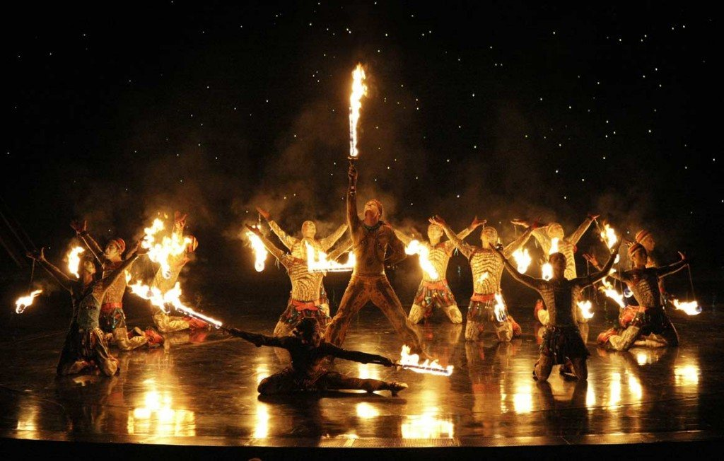 Dan Miethke Cirque du Soleil Fire Artist - Largest Cirque Custom Production Fire Act