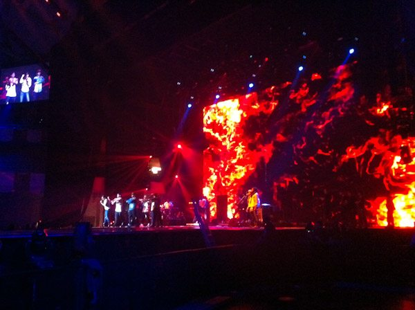 event entertainment for the MTV circus show - huge fire act
