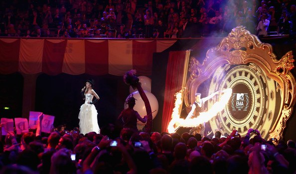 Spark Fire Dance performing signature fire act with flaming swords at MTV awards