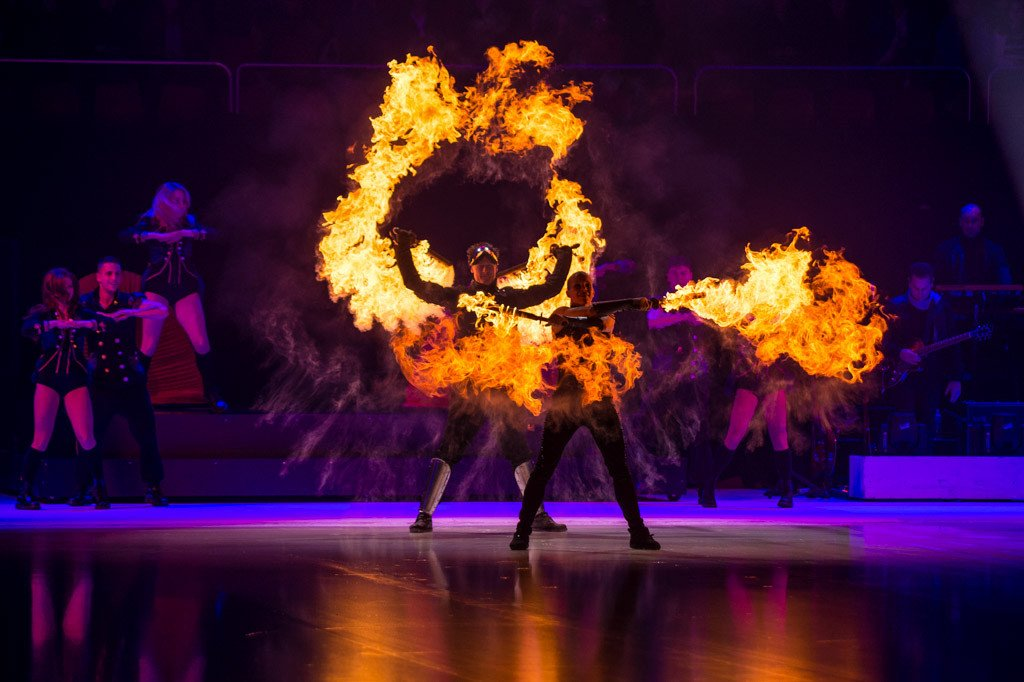Spark Fire Dance - Bespoke performances Art on Ice 2014 tour