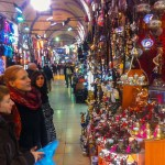 Fire Lamps Performers Dancer browse Istanbul Bazaar