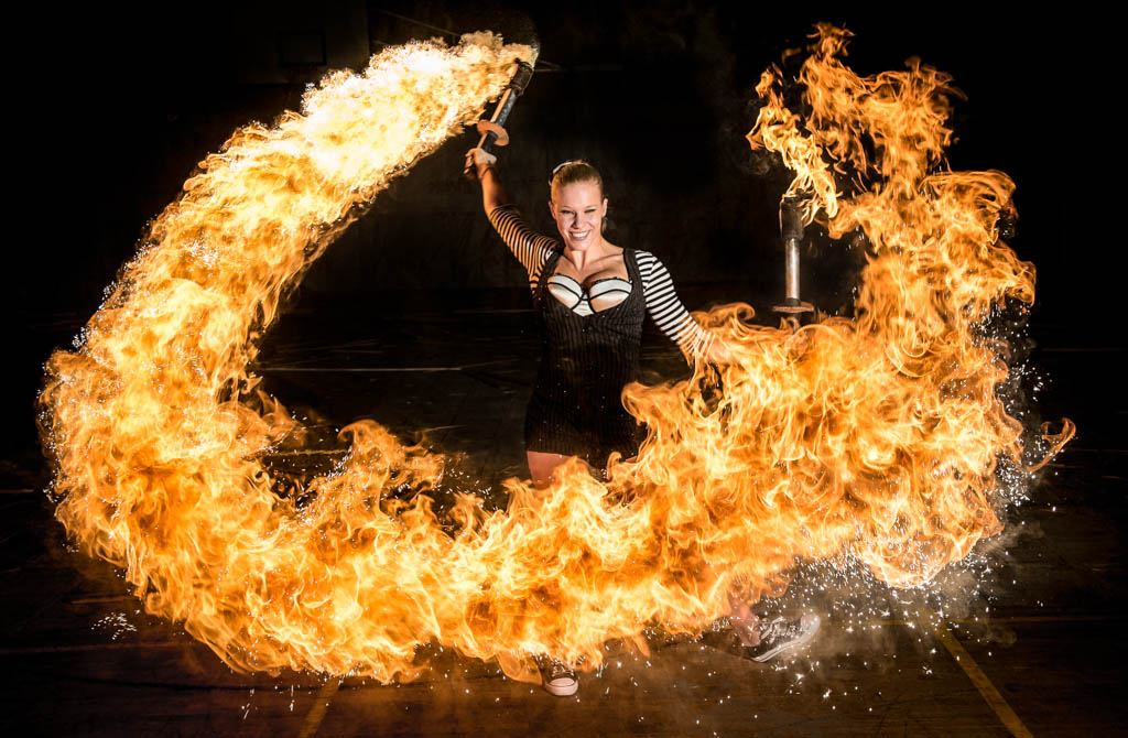 london fire acrobatics dance entertainer