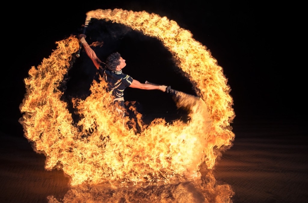 Fire Show by UK performers