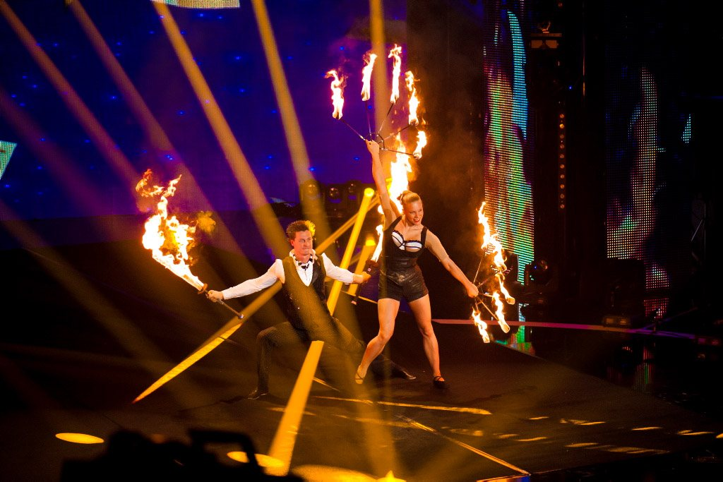 fire show on french tv beat the best