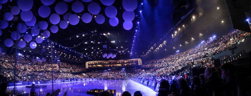 Hallenstadium light show entertainer uk party entertainers arena switzerland