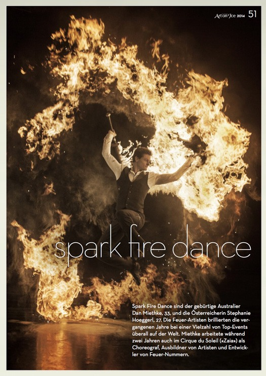 Spark Fire Dance audience program - Cirque du Soleil fire breathers