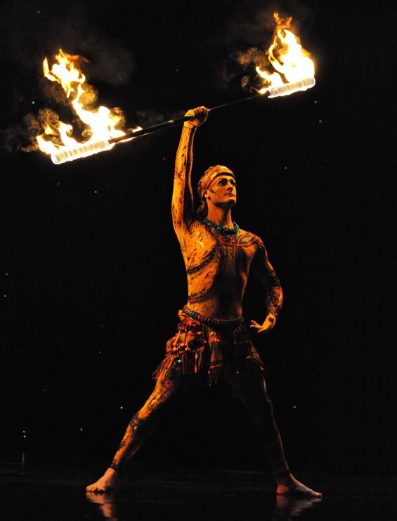 fire performer cirque du soleil act