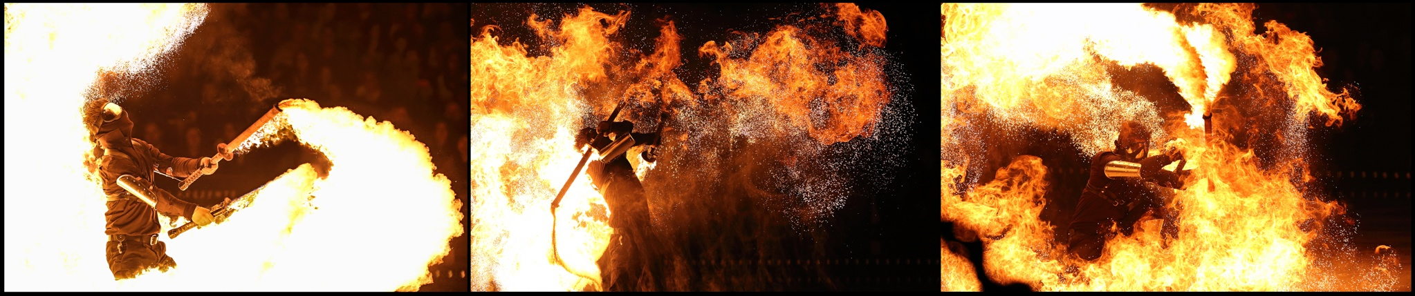 Spark Fire Dance - Firebreathing swords AOI 2014 tour