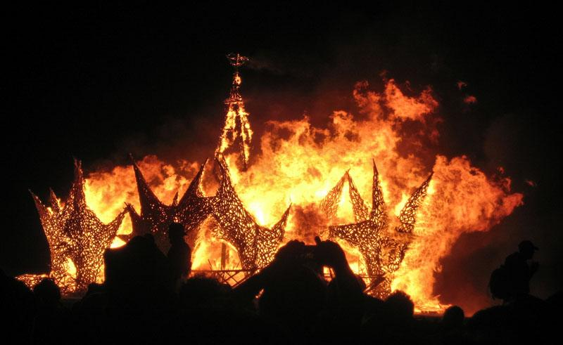 burning man temple burn