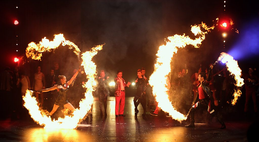Fire performers variete artist production