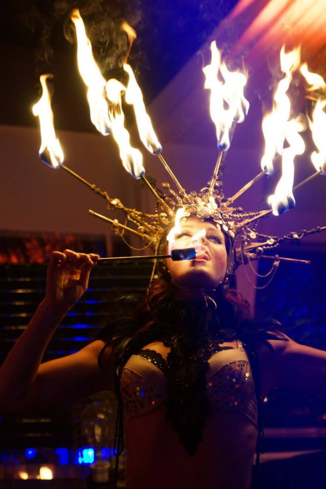 Spark Fire Dance - Fire eaters with fire crown 4
