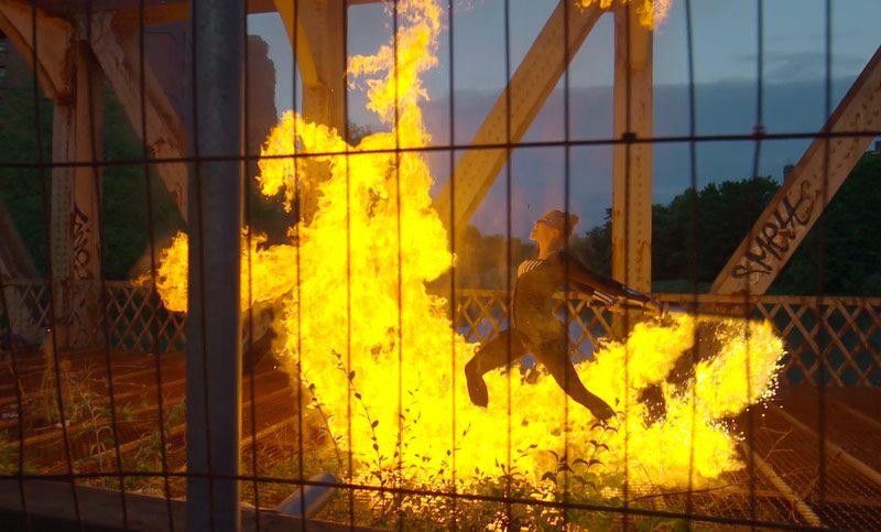 Fire show by Fire dancer couple Spark Fire