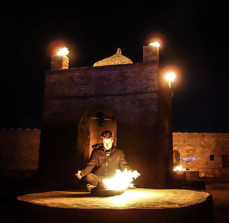 Artist focuses at fire temple on a new choreography