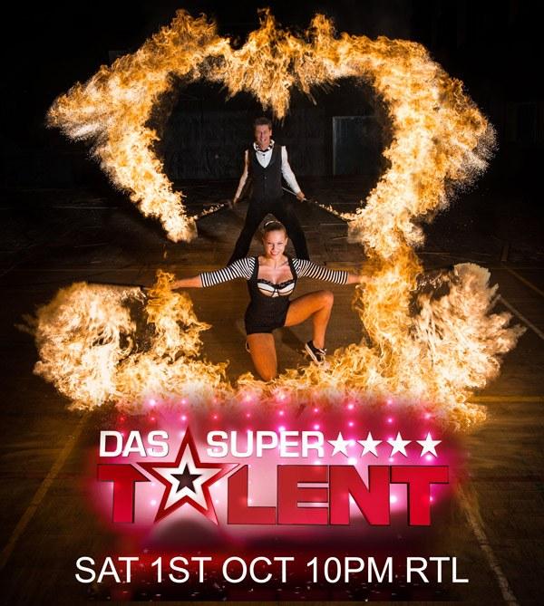 Das supertalent RTL Feuershow Feuertanz